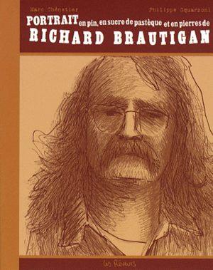 Portrait en pin, en sucre de pastèque et en pierres de Richard Brautigan