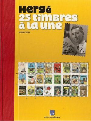Hergé - 25 timbres à la une