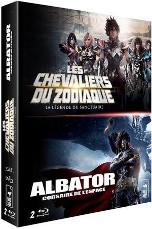 Coffret 2 films : les chevalier du zodiaque : la legend du sanctuaire + albator corsaire de l'espace