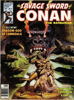 The Savage Sword of Conan # 14 Magazines (1974 - 1995)
