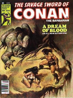 The Savage Sword of Conan # 40 Magazines (1974 - 1995)