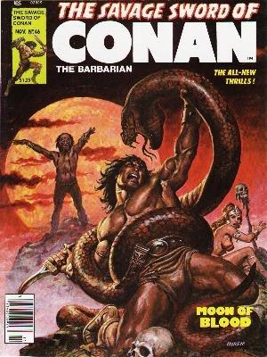 The Savage Sword of Conan # 46 Magazines (1974 - 1995)