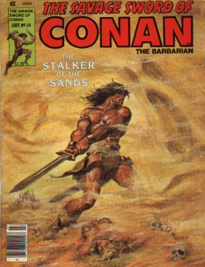 The Savage Sword of Conan # 54 Magazines (1974 - 1995)