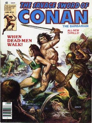 The Savage Sword of Conan # 55 Magazines (1974 - 1995)