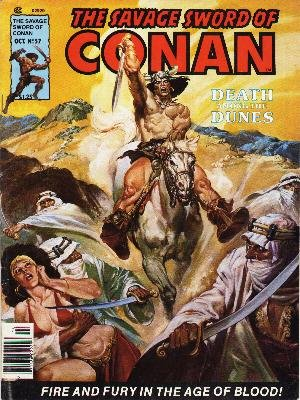 The Savage Sword of Conan # 57 Magazines (1974 - 1995)