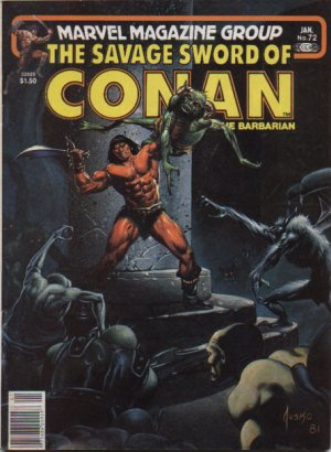 The Savage Sword of Conan # 72 Magazines (1974 - 1995)