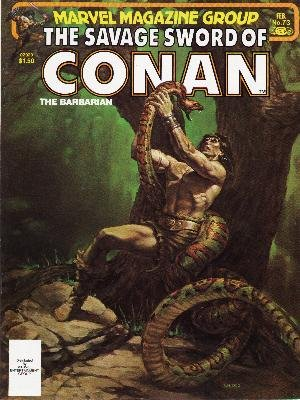 The Savage Sword of Conan # 73 Magazines (1974 - 1995)