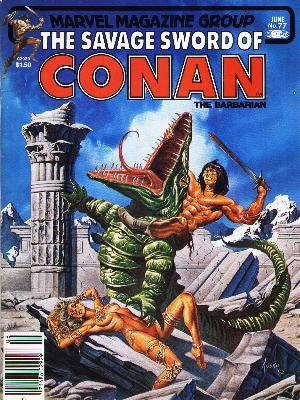 The Savage Sword of Conan # 77 Magazines (1974 - 1995)