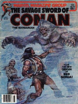 The Savage Sword of Conan # 78 Magazines (1974 - 1995)