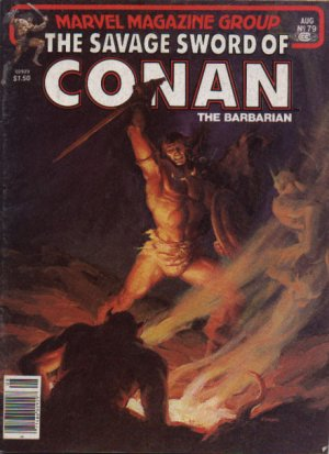 The Savage Sword of Conan # 79 Magazines (1974 - 1995)