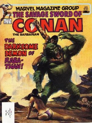 The Savage Sword of Conan # 84 Magazines (1974 - 1995)