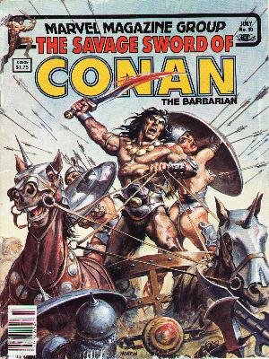 The Savage Sword of Conan # 90 Magazines (1974 - 1995)