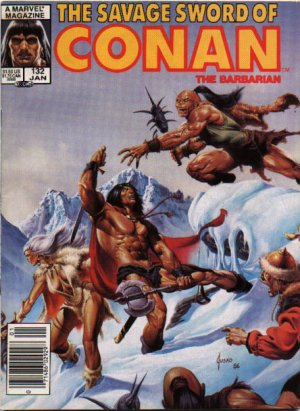 The Savage Sword of Conan # 132 Magazines (1974 - 1995)
