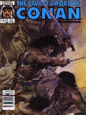 The Savage Sword of Conan # 133 Magazines (1974 - 1995)