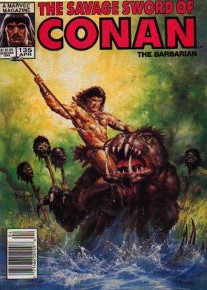 The Savage Sword of Conan # 135 Magazines (1974 - 1995)