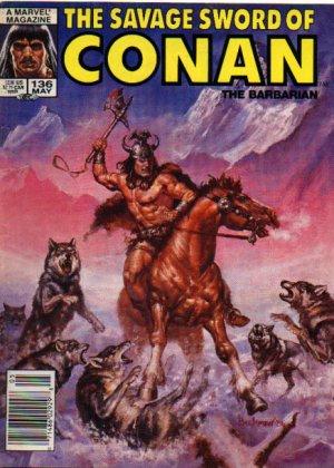 The Savage Sword of Conan # 136 Magazines (1974 - 1995)