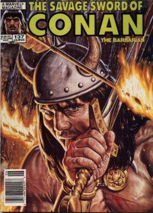 The Savage Sword of Conan # 137 Magazines (1974 - 1995)