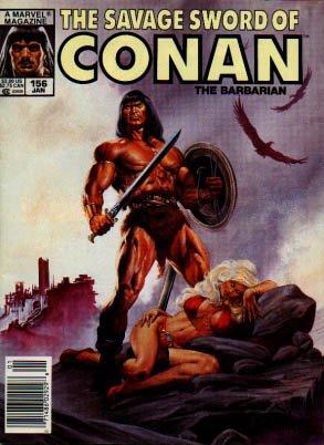 The Savage Sword of Conan # 156 Magazines (1974 - 1995)