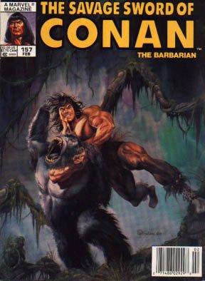 The Savage Sword of Conan # 157 Magazines (1974 - 1995)