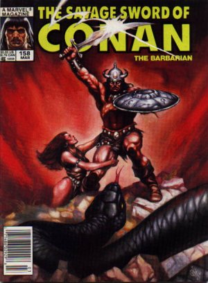 The Savage Sword of Conan # 158 Magazines (1974 - 1995)
