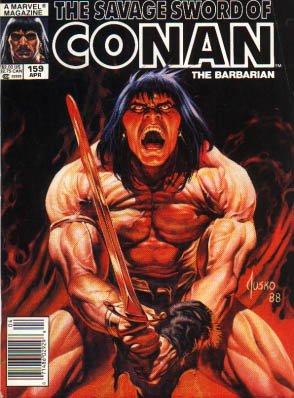 The Savage Sword of Conan # 159 Magazines (1974 - 1995)