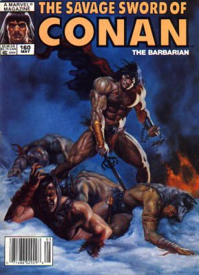 The Savage Sword of Conan # 160 Magazines (1974 - 1995)