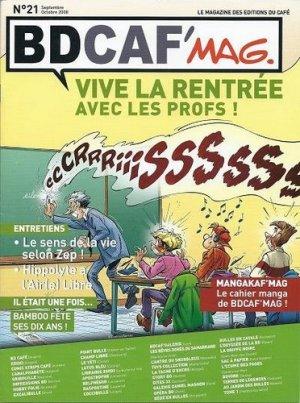 couverture, jaquette Bdcaf' mag 21  - Vive la rentrée avec les Profs ! (Les éditions du Café)