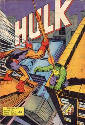 The Incredible Hulk # 7 Kiosque Arédit V1 (1976 - 1983)