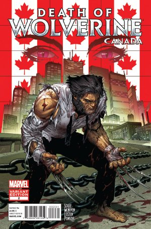 La Mort de Wolverine 2 - Death of Wolverine Part Two (Ed Mc Guinness Canada Variant Cover)
