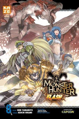 couverture, jaquette Monster Hunter Flash 8  (kazé manga)