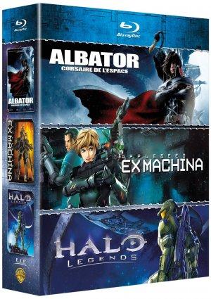 Coffret Albator, Corsaire de l'Espace ; Halo Legends ; Appleseed Ex Machina