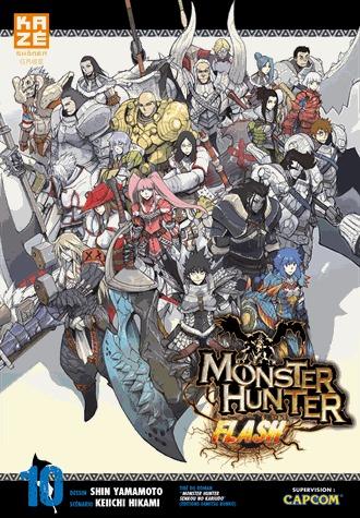 couverture, jaquette Monster Hunter Flash 10  (kazé manga)