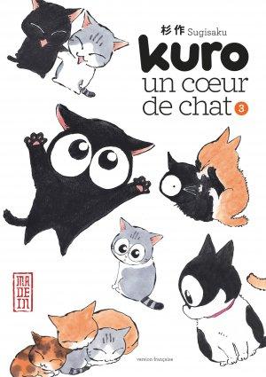 couverture, jaquette Kuro, un coeur de chat 3  (kana)