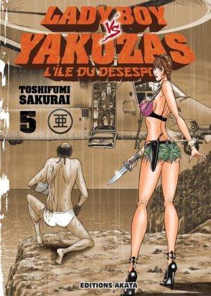 couverture, jaquette Ladyboy vs. yakuzas 5  (Akata)