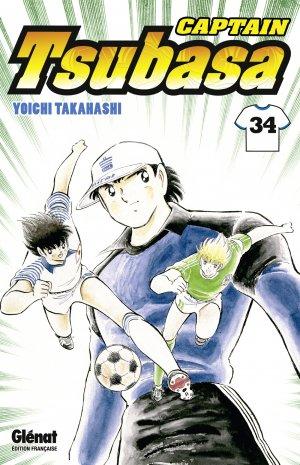 couverture, jaquette Captain Tsubasa 34 Réédition Française (Glénat Manga)