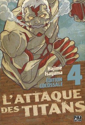 couverture, jaquette L'Attaque des Titans 4 Colossale (Pika) Manga