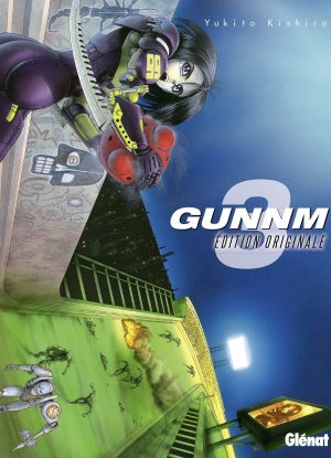 couverture, jaquette Gunnm 3 Edition originale (Glénat Manga)