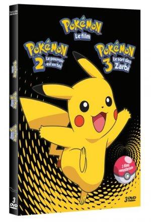 couverture, jaquette Pokemon - films 1 à 3  Coffret (France Télévisions Distribution) Produit spécial anime