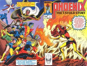 Phoenix # 1 Issue Cover title Phoenix The Untold Story (1984)