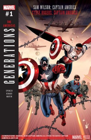 Generations - Sam Wilson Captain America And Steve Rogers Captain America # 1 Issue (2017)