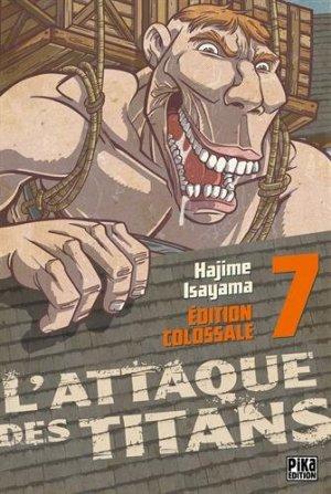 couverture, jaquette L'Attaque des Titans 7 Colossale (Pika) Manga