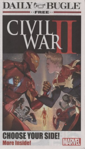 Civil War II Daily Bugle Newspaper édition Issue (2016)
