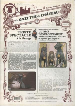Le château des animaux 2 Edition journal