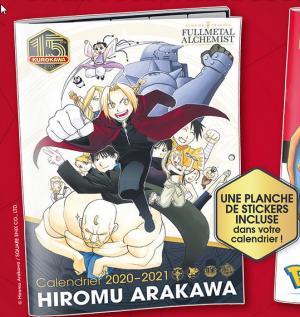Calendrier Fullmetal Alchemist édition 2020-2021