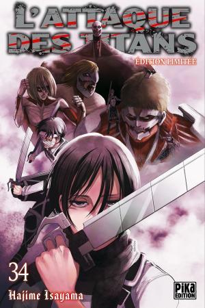 couverture, jaquette L'Attaque des Titans 34 Limitée (Pika) Manga