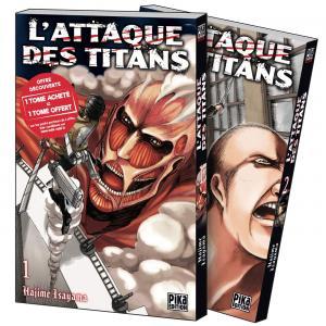 couverture, jaquette L'Attaque des Titans Pack découverte 1