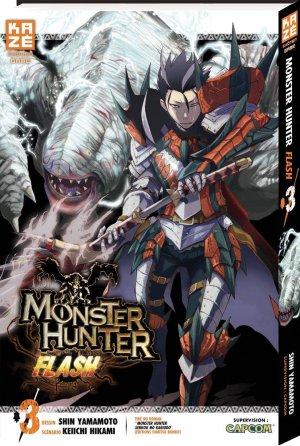 couverture, jaquette Monster Hunter Flash 3  (kazé manga)