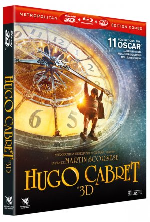 Hugo Cabret édition COMBO BLU-RAY 3D + BLU-RAY 2D + DVD