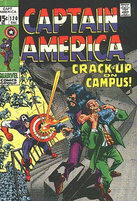 Captain America 120 - Crack-Up On Campus!