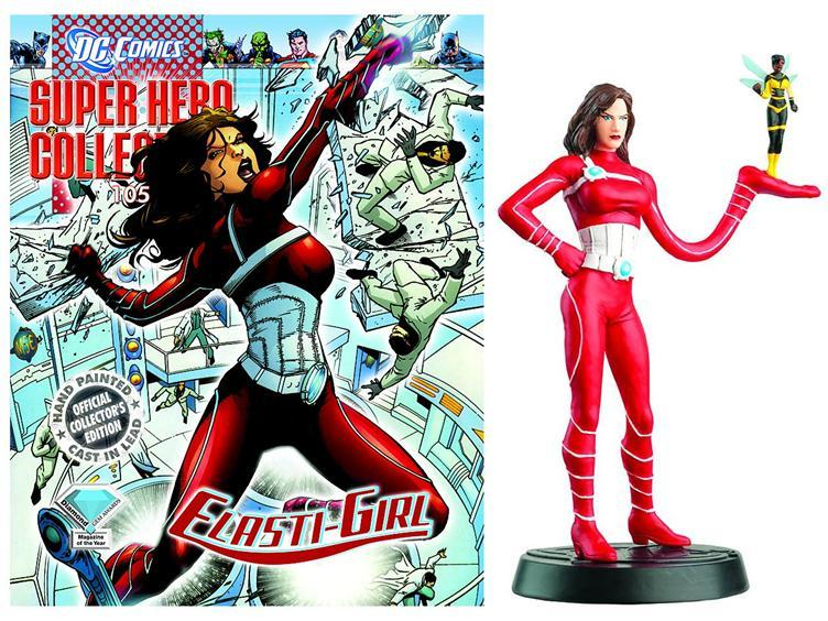 Figurine Plomb Super-héros DC Comics 105 ELASTI-GIRL Eaglemoss